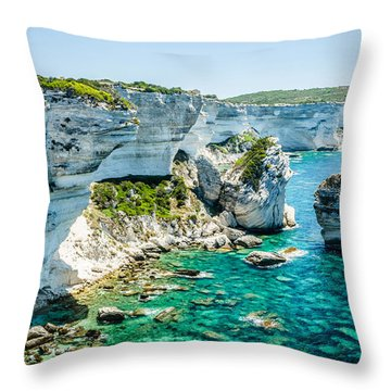 The Erosion Throw Pillow