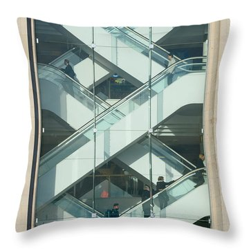 Throw Pillow featuring the photograph The Escalators by Colin Rayner
