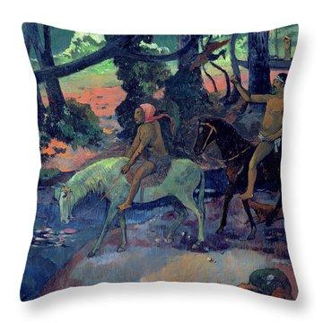 The Escape Throw Pillow by Paul Gauguin