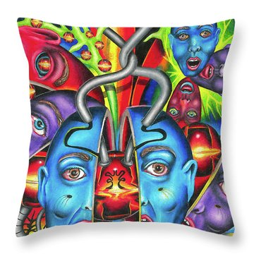 The Esoteric Force Of Molecular Mentality Throw Pillow