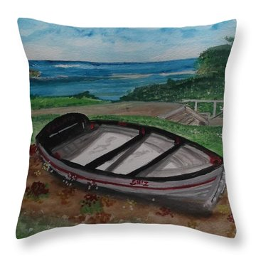 The Esplanade Scarborough Throw Pillow by Carole Robins