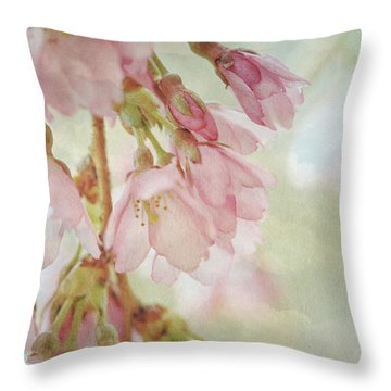 Throw Pillow featuring the photograph The Essence Of Springtime  by Connie Handscomb