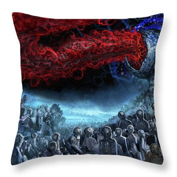 The Essence Of Time Matches No Flesh Throw Pillow