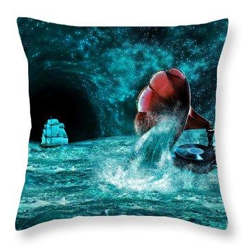 Throw Pillow featuring the digital art The Eternal Ballad Of The Sea by Olga Hamilton