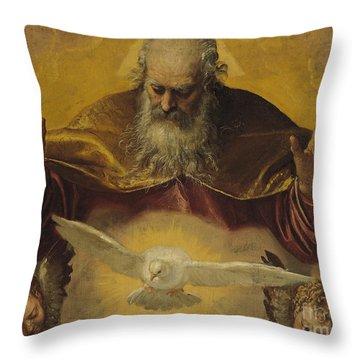 God The Father Throw Pillows