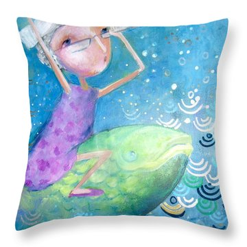 Throw Pillow featuring the painting The Eternal Quest by Eleatta Diver