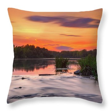 The Eve On The River Throw Pillow