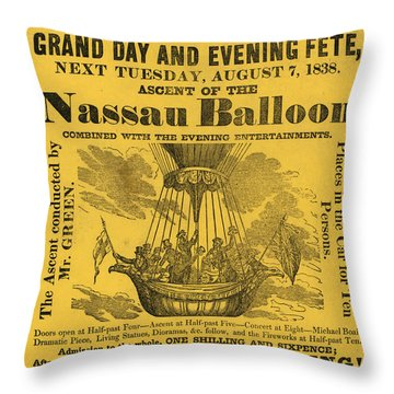 The Evening Fete Throw Pillow
