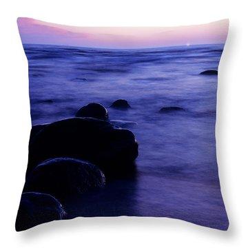 The Evening Throw Pillow by Konstantin Dikovsky