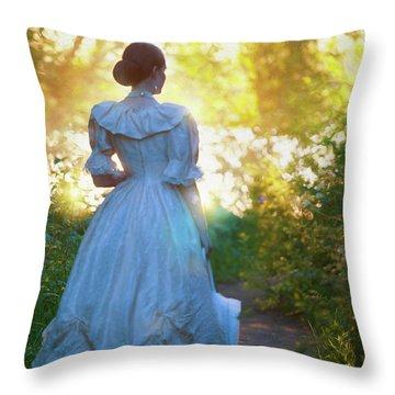 The Evening Walk Throw Pillow by Lee Avison