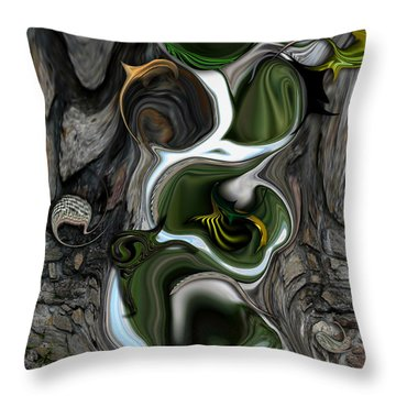 The Evolving Dimensionality Throw Pillow