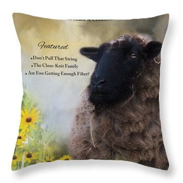 The Ewetimes Throw Pillow