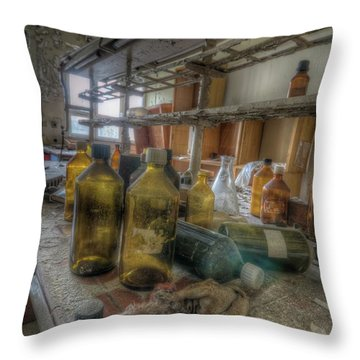 Throw Pillow featuring the digital art The Experiment  by Nathan Wright