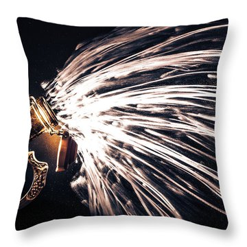 The Exploding Growler Throw Pillow by David Sutton