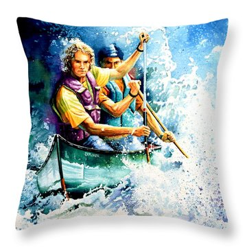 The Explorers Throw Pillow by Hanne Lore Koehler