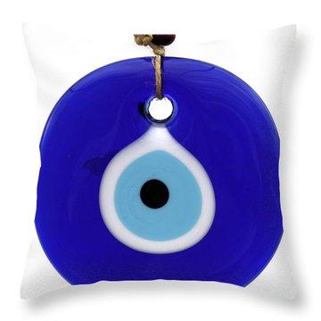 The Eye Against Evil Eye Throw Pillow
