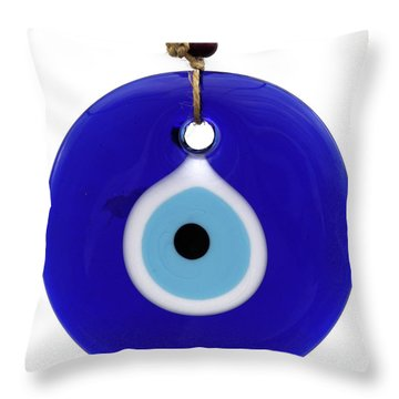 The Eye Against Evil Eye Throw Pillow