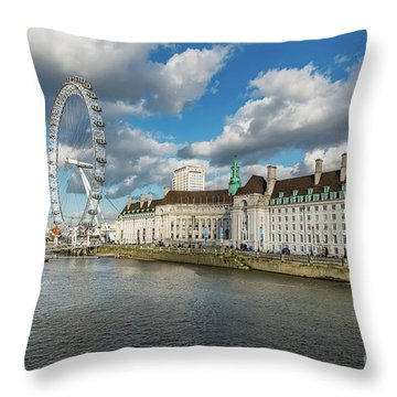 The Eye London Throw Pillow by Adrian Evans