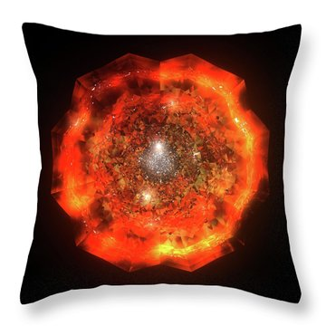 The Eye Of Cyma - Fire And Ice - Frame 146 Throw Pillow