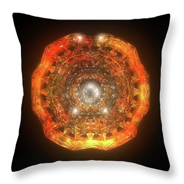 The Eye Of Cyma - Fire And Ice - Frame 160 Throw Pillow