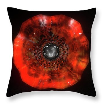 The Eye Of Cyma - Fire And Ice - Frame 40 Throw Pillow