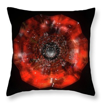The Eye Of Cyma - Fire And Ice - Frame 45 Throw Pillow