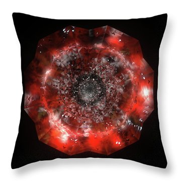 The Eye Of Cyma - Fire And Ice - Frame 49 Throw Pillow