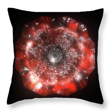 The Eye Of Cyma - Fire And Ice - Frame 50 Throw Pillow