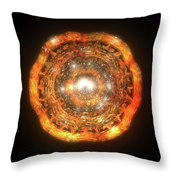 The Eye Of Cyma - Fire And Ice - Frame 7 Throw Pillow