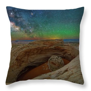 The Eye Of Earth Throw Pillow