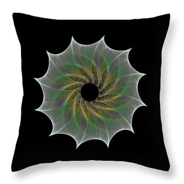 Throw Pillow featuring the digital art The Eye Of God by Denise Beverly