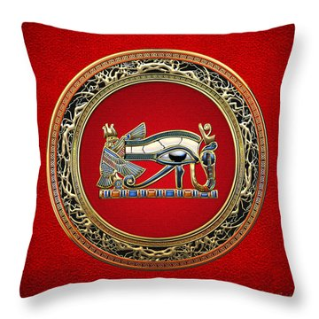 The Eye Of Horus On Red Throw Pillow