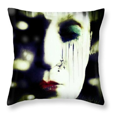 Throw Pillow featuring the digital art The Eye Of The Beholder by Delight Worthyn