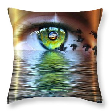 The Eye Of The Observer Throw Pillow by Nadine May
