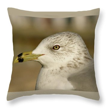 The Eye Of The Seagull Throw Pillow