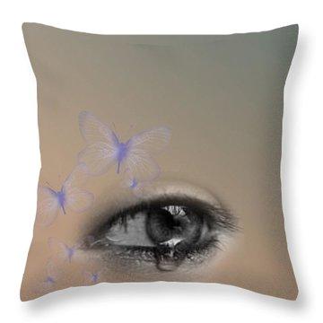 The Eyes Don't Lie Throw Pillow by Vennie Kocsis