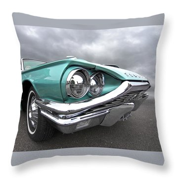 The Eyes Have It - 1964 Thunderbird Throw Pillow by Gill Billington