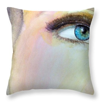Throw Pillow featuring the painting The Eyes Have It by Ed  Heaton