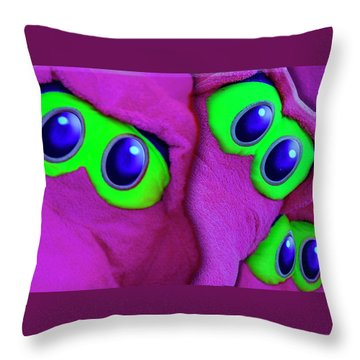 Throw Pillow featuring the photograph The Eyes Have It by Paul Wear