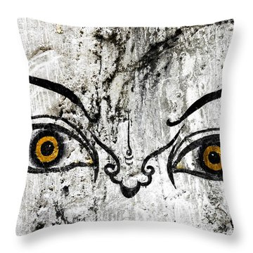 The Eyes Of Guru Rimpoche  Throw Pillow by Fabrizio Troiani