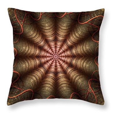 The Fabric Of The Space-time Continuum Throw Pillow