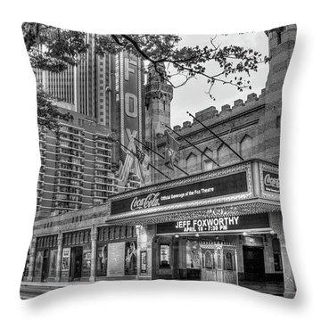 The Fabulous Fox Theatre Bw Atlanta Georgia Art Throw Pillow