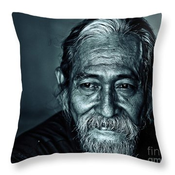 The Face Throw Pillow by Charuhas Images