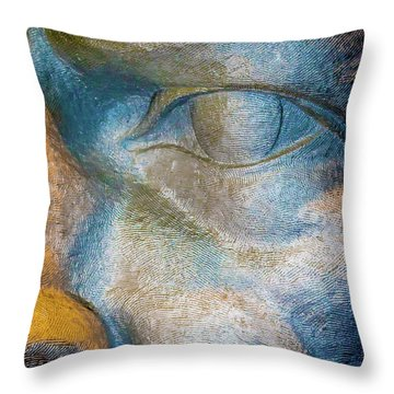The Face Is A Picture Of The Mind With The Eyes As Its Interpreter. Cicero Throw Pillow