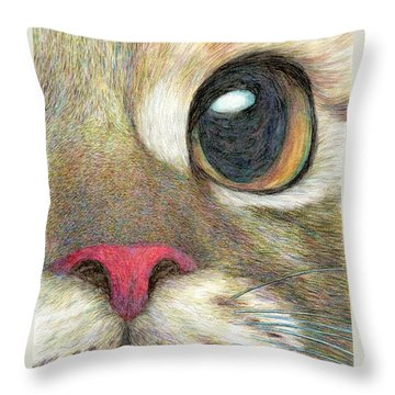 The Face Throw Pillow by Jingfen Hwu