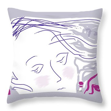 The Face Throw Pillow by Mary Armstrong