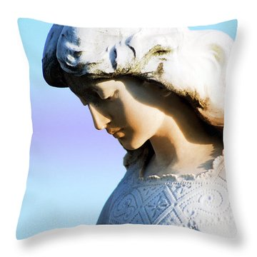 The Face Of An Angel Throw Pillow by Susanne Van Hulst