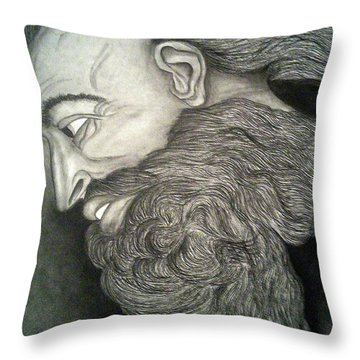 The Face Of God Throw Pillow