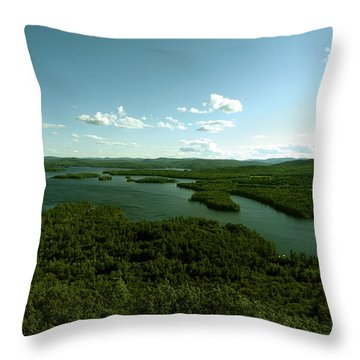 The Face Of Squam Throw Pillow by Rick Frost