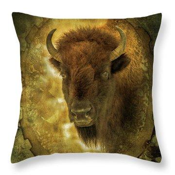 The Face Of Tatanka Throw Pillow